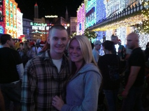Engaged 12/6/2012 at the Osborne Family Spectacle of Dancing Lights